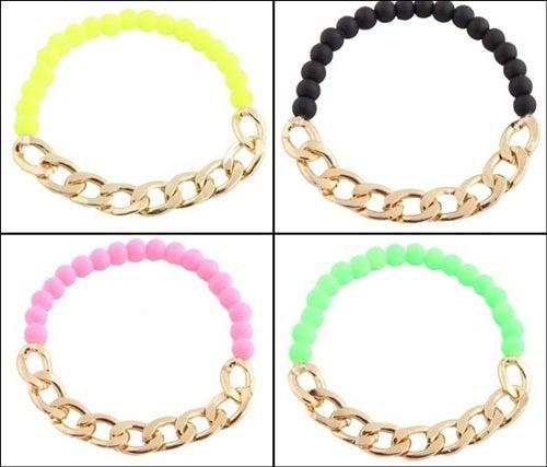 Image of Chain Beaded Bracelet