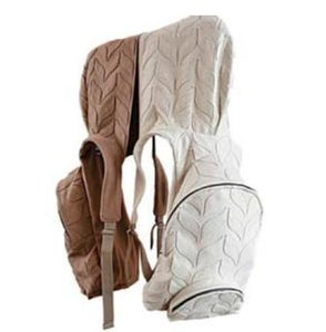 "Image of ""flat knitting"" hooded backpack aforestdesign for Burel"