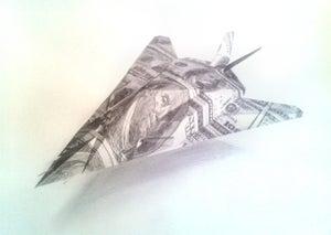 Image of F-117 Stealth Fighter sketch