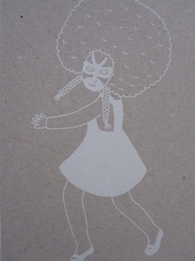 Image of Petite fille afro