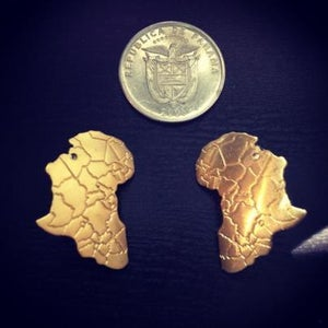 "Image of ""Black Gold"" Africa earrings"