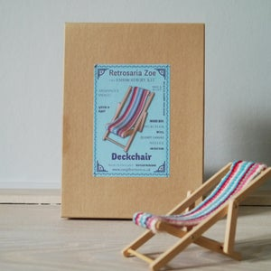 Image of Deckchair 'Tiny Tapestry' Needlepoint Kit