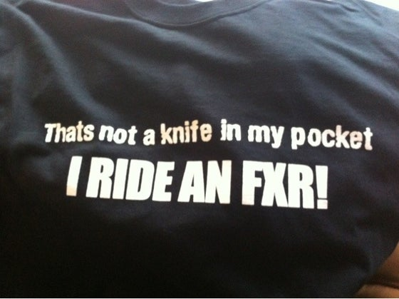Image of Knife in my pocket / FXR 2 sided shirt