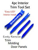 Image of 4 Piece Auto Trim And Molding Tool Set - Great for Interior LED installation