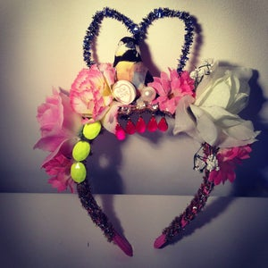 Image of Kitsch Sweetheart Floral Headband (with bird)
