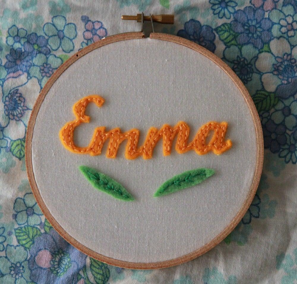 Image of Personalised Name Hoop - Orange