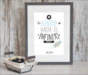 Image of Lámina -Juntos hasta el infinito y más allá-