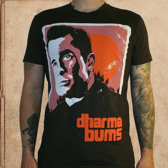 Image of Kerouac Dharma Bums - dark brown - only XL/2X left - discharge inks - unisex