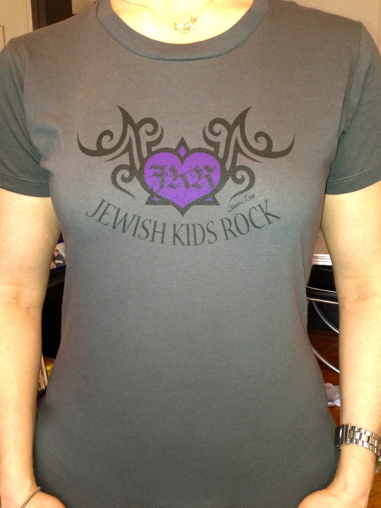 Image of Jewish Kids Rock - women's logo in front