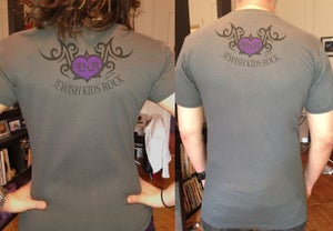 Image of Jewish Kid's Rock - Tattooed Back - Uni-Gender Gray T's