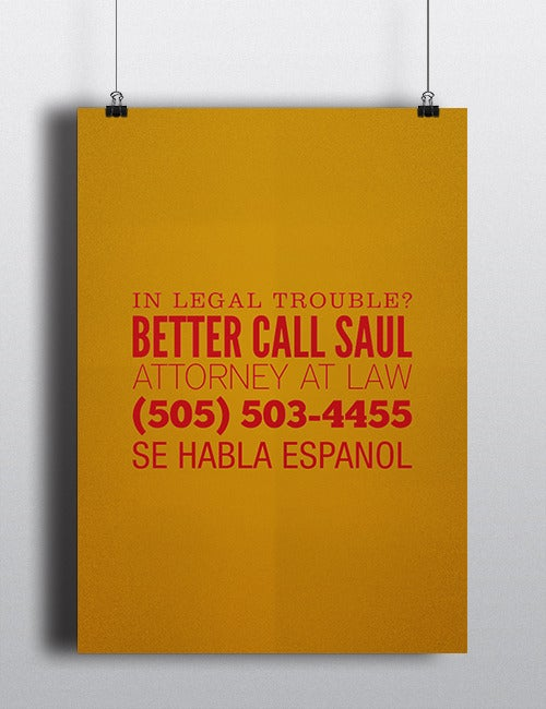 Image of Better Call Saul - Poster A1 - PRE-ORDER!