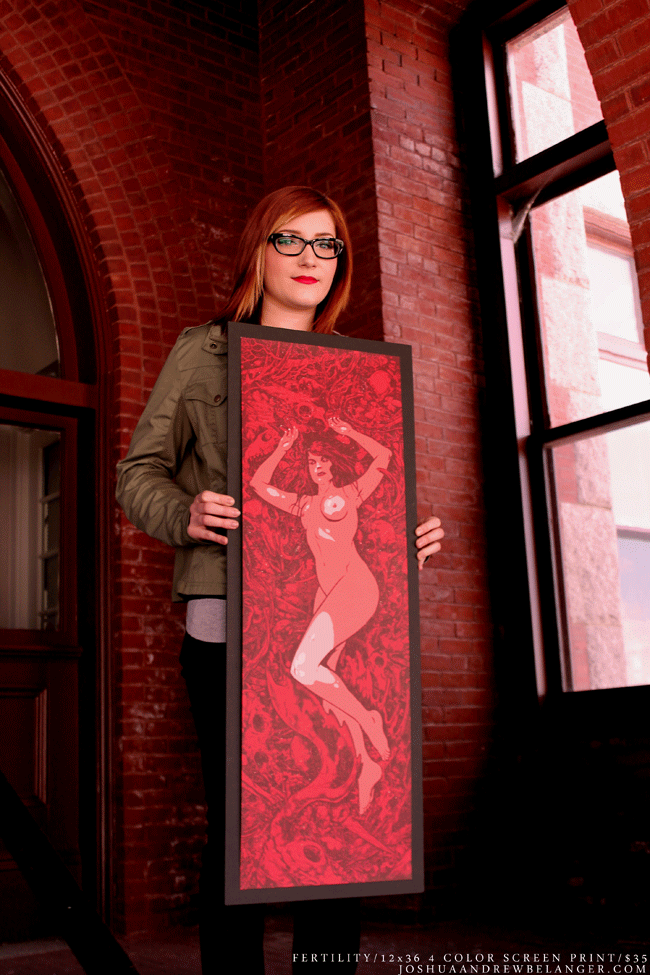 """Image of 'Fertility' 12"""" x 36"""" Screen Printed Poster"""