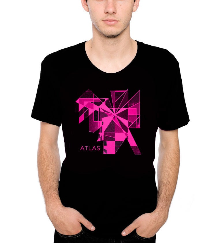 Image of Shapes T-Shirt - Black and Pink
