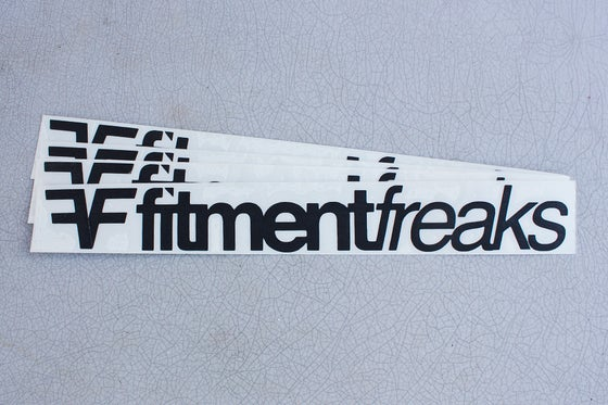 Image of Limited Edition: Fitment Freaks Logo Sticker Matte Black