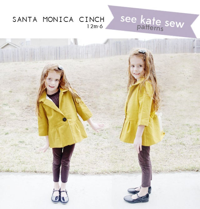 Image of the SANTA MONICA CINCH girl's jacket
