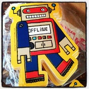 Image of die-cut robot sticker #02