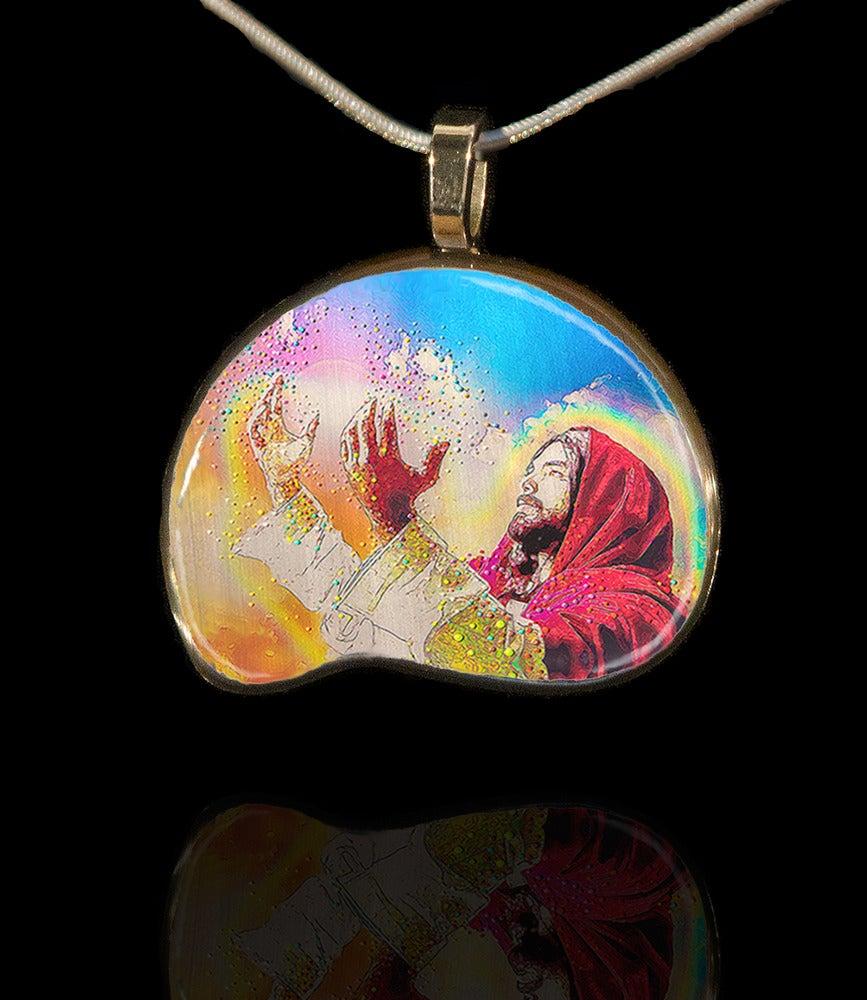 "Image of ""Light Of Christ - Healing Hands"" Energy Pendant"