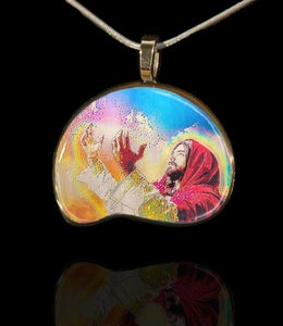 "Image of ""Light Of Christ - Healing Hands"" Energy Pendant"