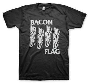 Image of Bacon Flag Black