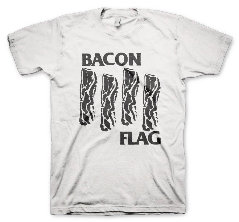 Image of Bacon Flag White