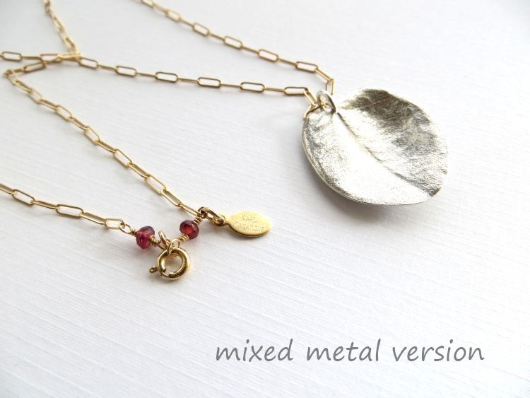 Image of Large ohi'a leaf necklace