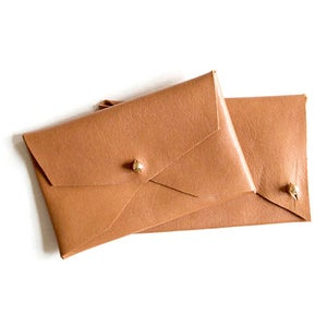 Image of SOFT CARD CASE -BROWN LEATHER
