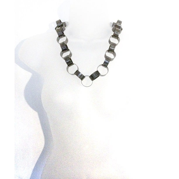 Image of Exclusive Gunmetal Statement Loop Necklace