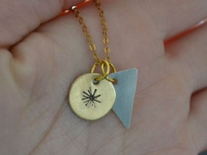 Image of Starburst and Pennant Triangle Necklace