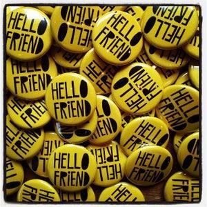 Image of HELLO FRIEND button