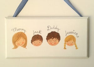 Image of Personalised Family Plaque