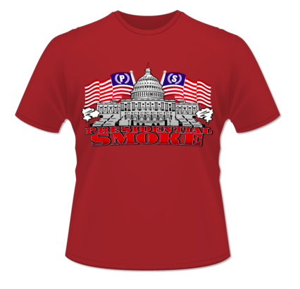 Image of Red Presidential Smoke Tshirts (Patriotic Edition)