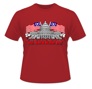 Image of Red Presidential Smoke Tshirts (Patriotic Edition)