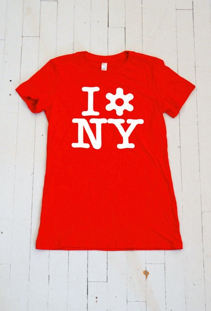 Image of WOMEN'S I LOVE NY T-SHIRT IN RED