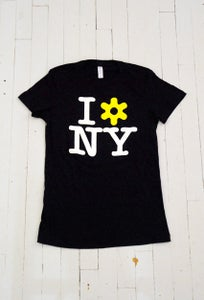 Image of WOMEN'S I LOVE NY T-SHIRT IN BLACK