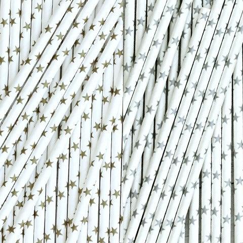 Image of Metallic Paper Straws