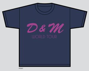 Image of D & M World Tour T-Shirt *Pre-Order*