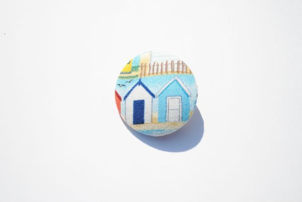 Image of Beach Hut Row Brooch