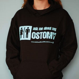 Image of Ask Me About My Ostomy Hoodie (Unisex)