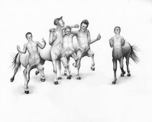 Image of Schemie Centaurs II- Limited Edition Giclee Print- 43 x 33 cm- Kirsty Whiten
