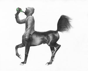 Image of Centaur Drinking- Limited Edition Giclee Print- 77 x 61 cm- Kirsty Whiten