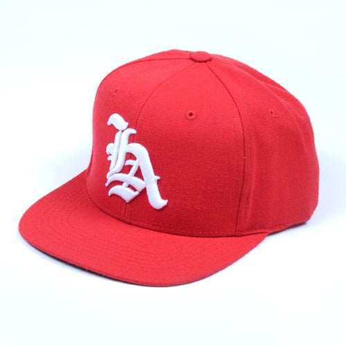 Image of Los Angeles OE Snapback Cap (Red)
