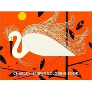 Image of Charley Harper Coloring Book Charles Harper Mid Century Modern Art Todd Oldham Birds Orange