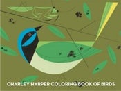 Image of Charley Harper Coloring Book of Birds Charles Harper Mid Century Modern Art Todd Oldham Green