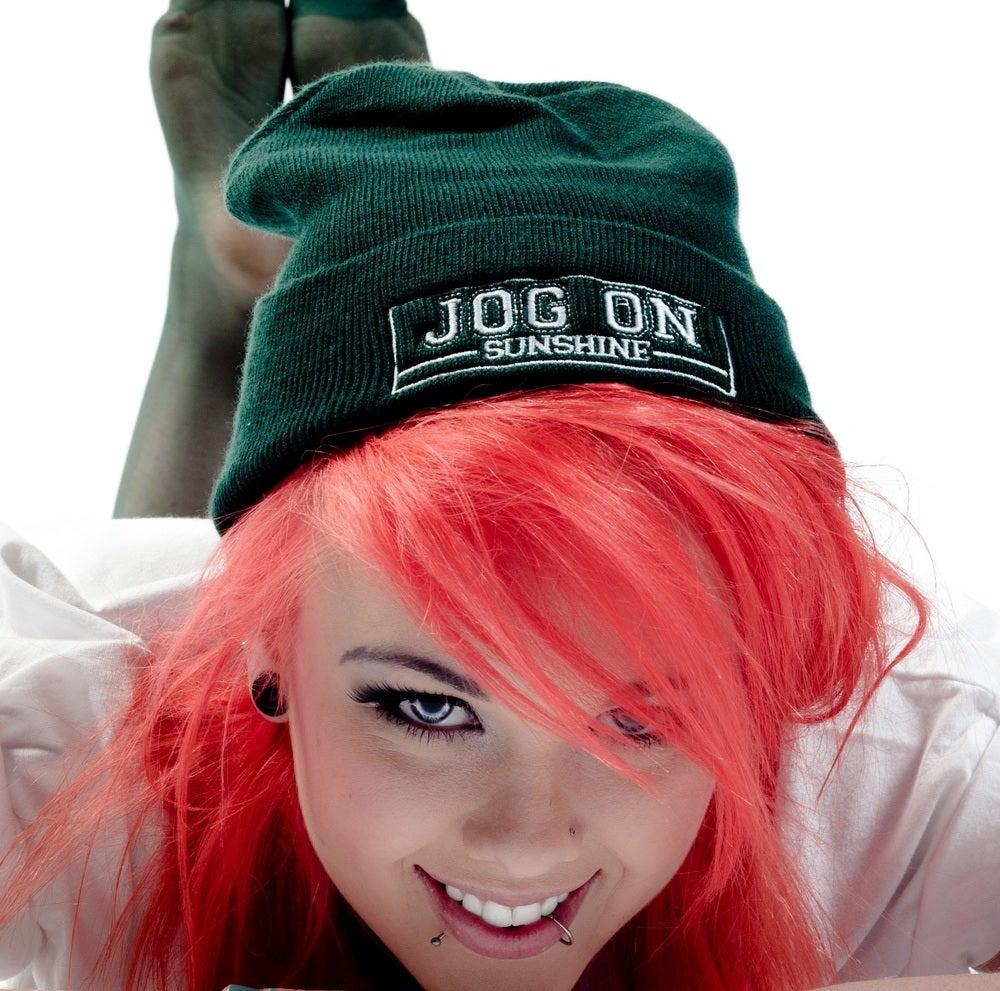 Image of Jog On Beanie  Bottle Green