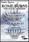 Image of Tickets: Rome Burns + Fire & Forget - Nov 12th