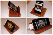 Image of Sleek Mahogany iPod Stand (with USB cable)