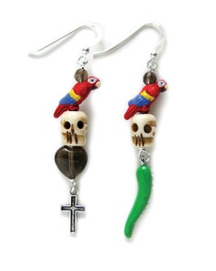 Image of Pirate Skull Earrings