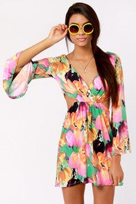 Image of Multi Colored Spring Dress