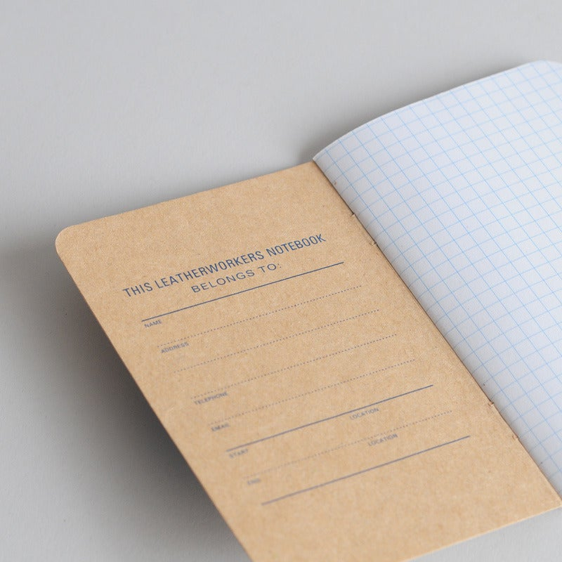 Image of Ashdown Workshop By Calepino - Leatherworkers Notebook 3 Pack & Leather Cover