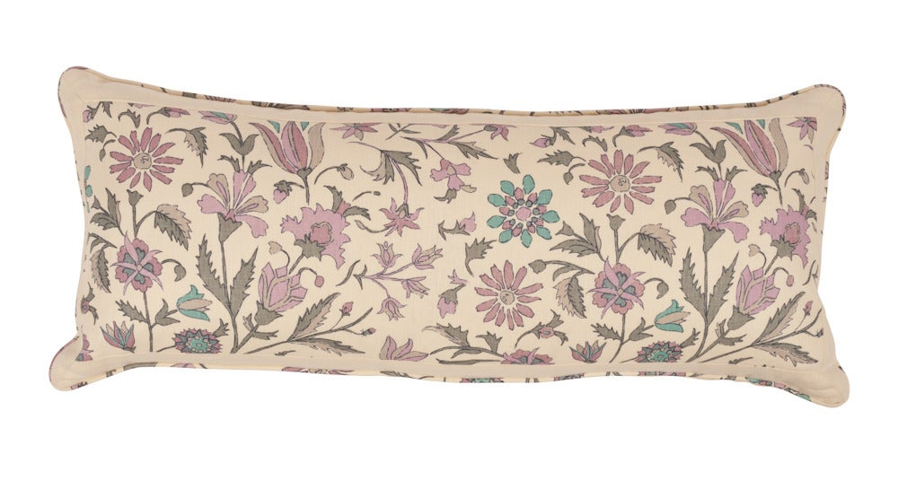 Image of Single Sided Tatiana Mauve/Pistachio Bolster
